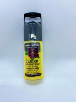 Fashion Dimensional Fabric Paint - Shiny Bright Yellow