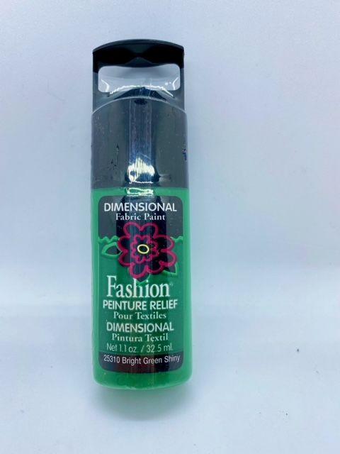 Fashion Dimensional Fabric Paint - Shiny Bright Green