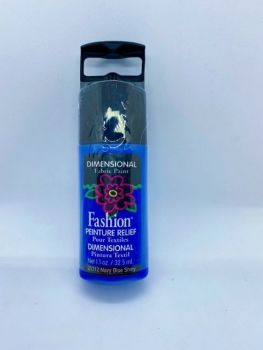 Fashion Dimensional Fabric Paint - Shiny Navy Blue