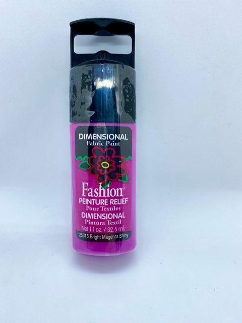 Fashion Dimensional Fabric Paint - Shiny Bright Magenta