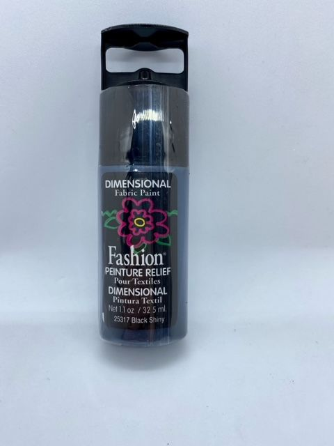 Fashion Dimensional Fabric Paint - Shiny Black