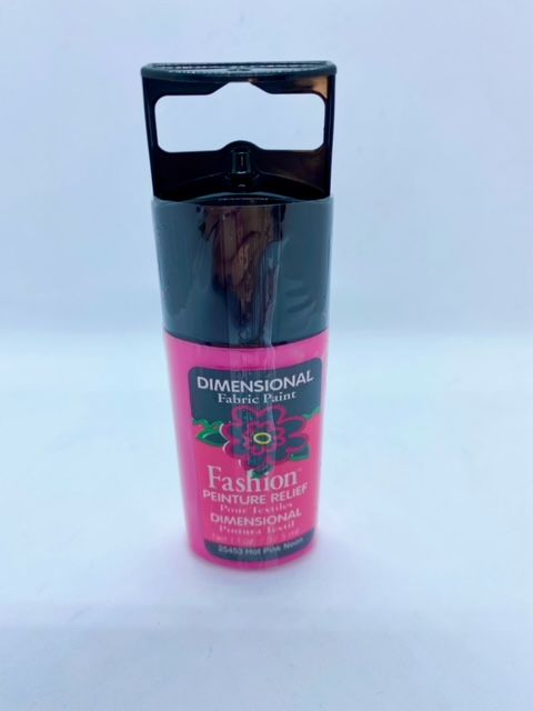 Fashion Dimensional Fabric Paint - Shiny Neon Hot Pink