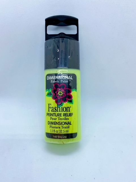 Fashion Dimensional Fabric Paint - Shiny Lime
