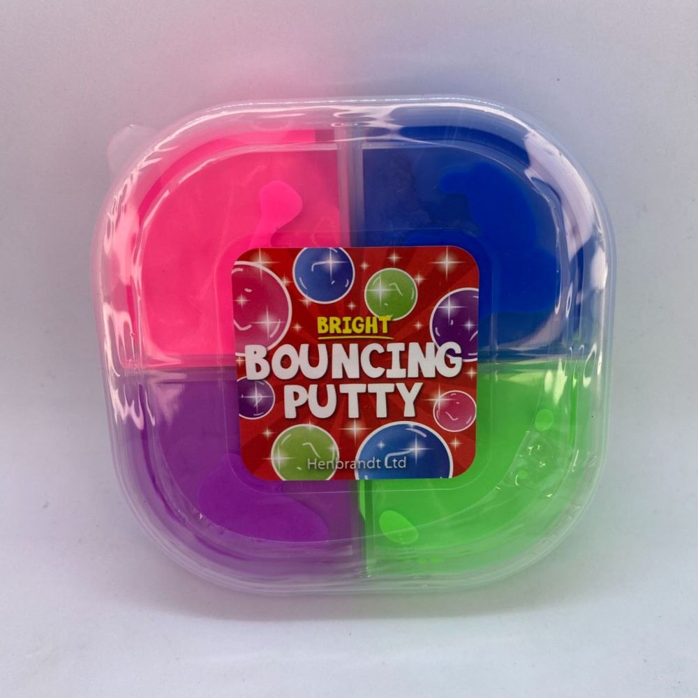 Bright 4 Tone Bouncing Putty