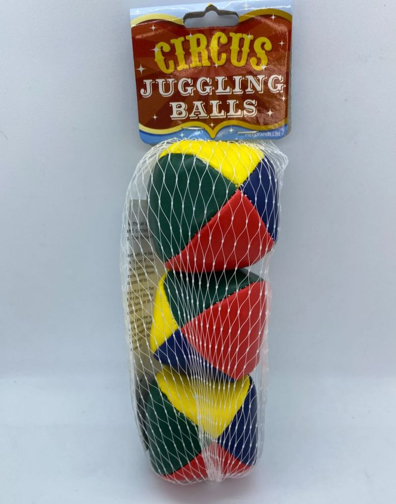 Set of 3 Multicoloured Juggling Balls