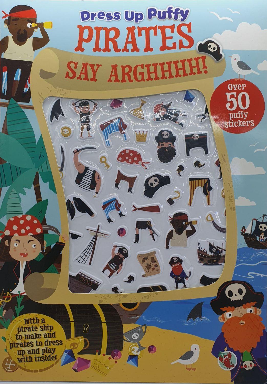 Pirate Dress up Puffy Stickers