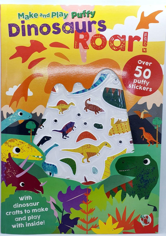 Dinosaurs Roar Puffy Stickers