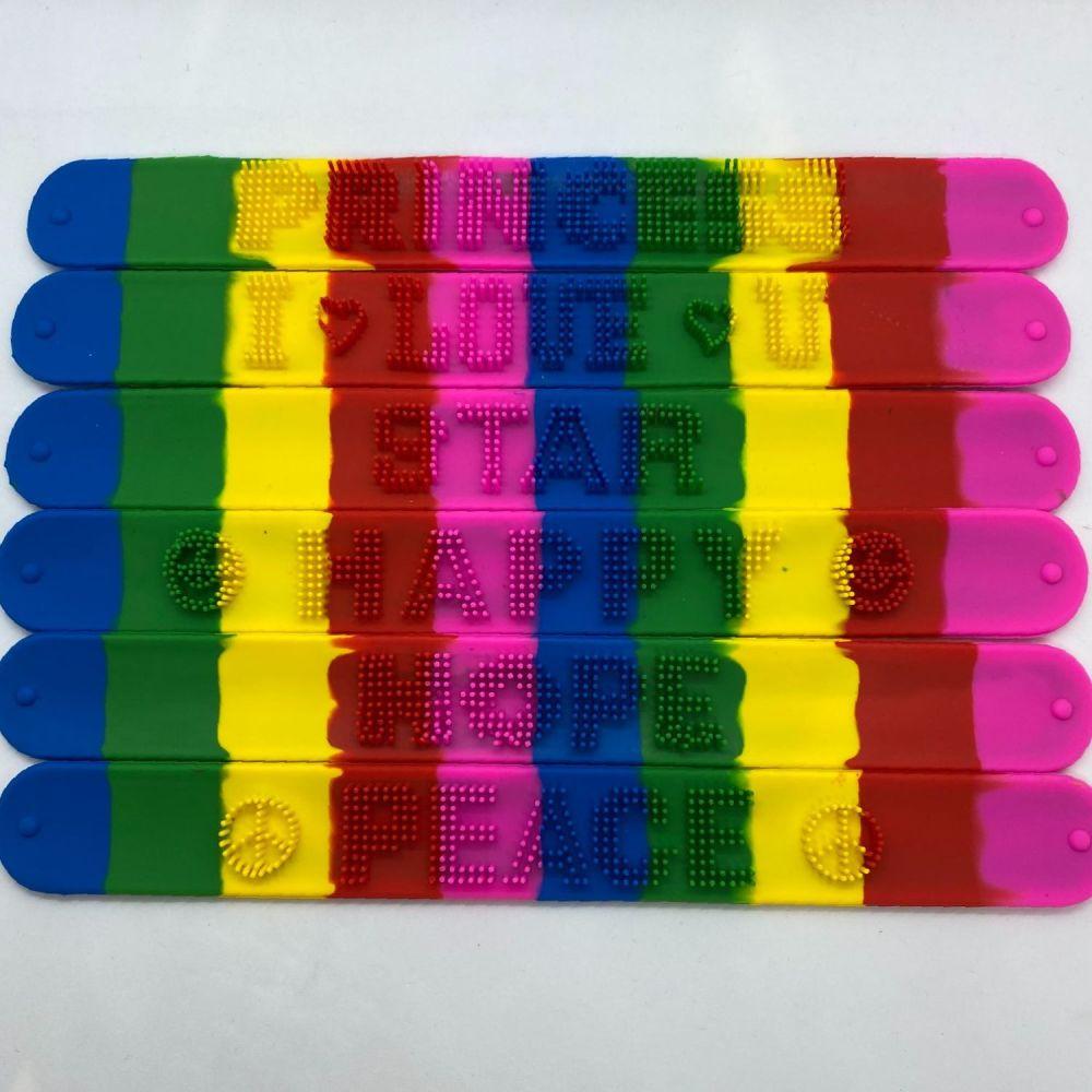 Rainbow Snap Bracelet