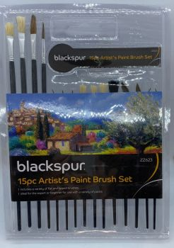 15pc Artists Paint Brush Set