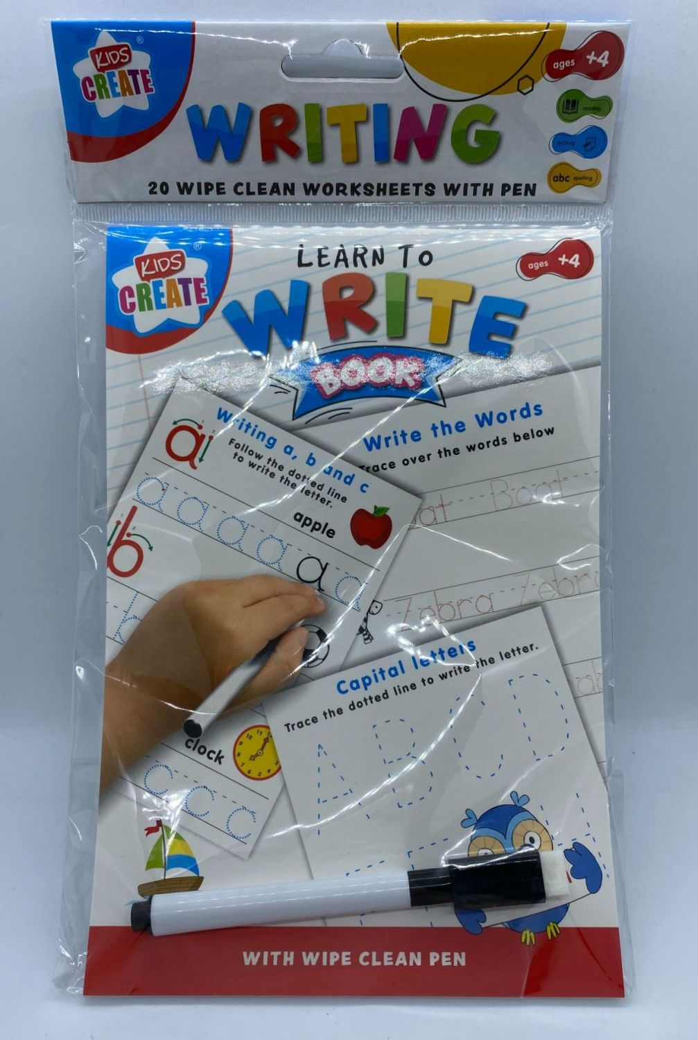Educational A5 Wipe Clean Book - Write