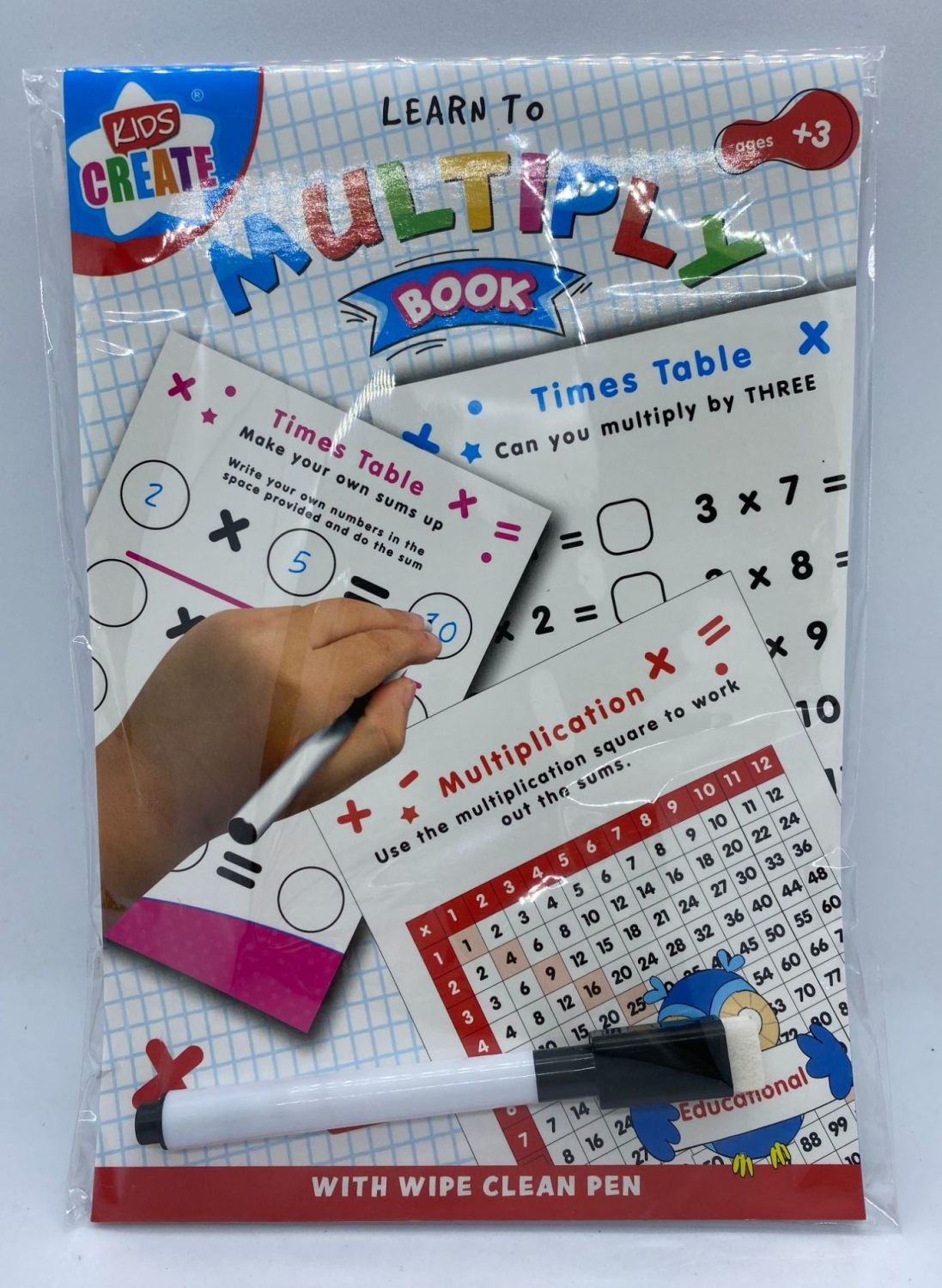 Educational A5 Wipe Clean Book - Multiply