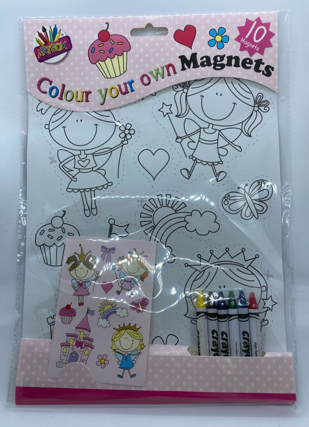 Colour Your Own Magnets - Fairies