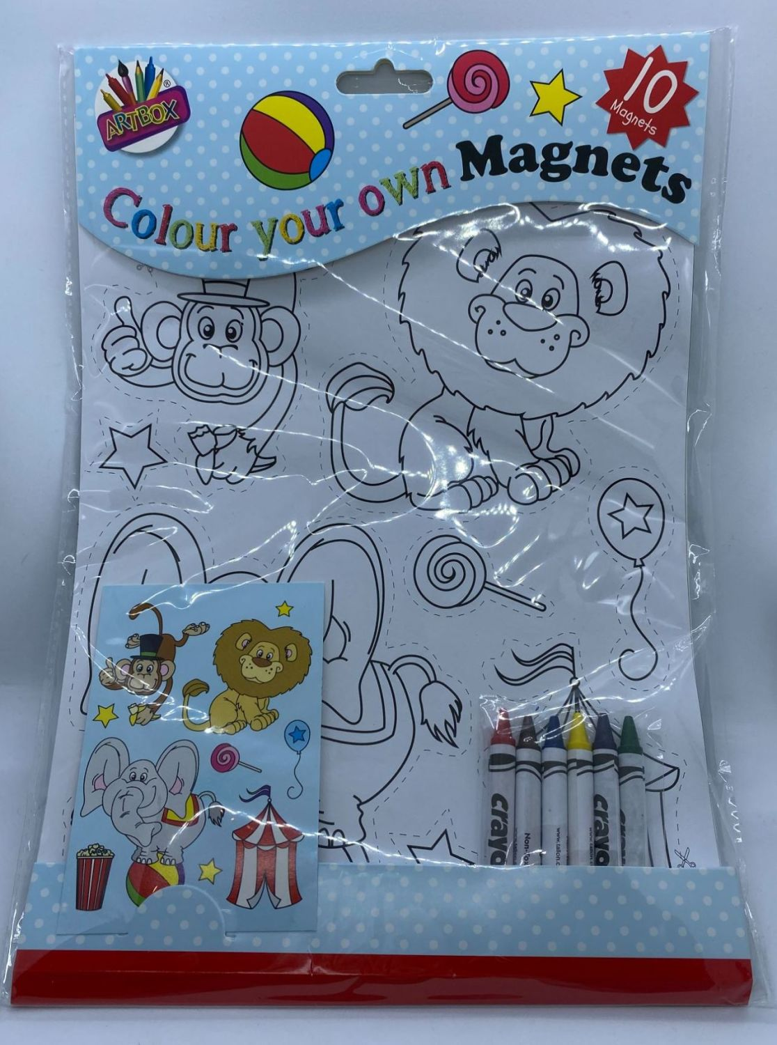 Colour Your Own Magnets - Circus Animals