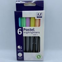 Pack of 6 Pastel Highlighters