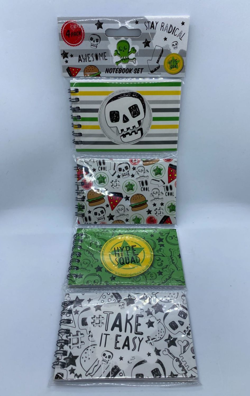 4 Pack Notebook Set