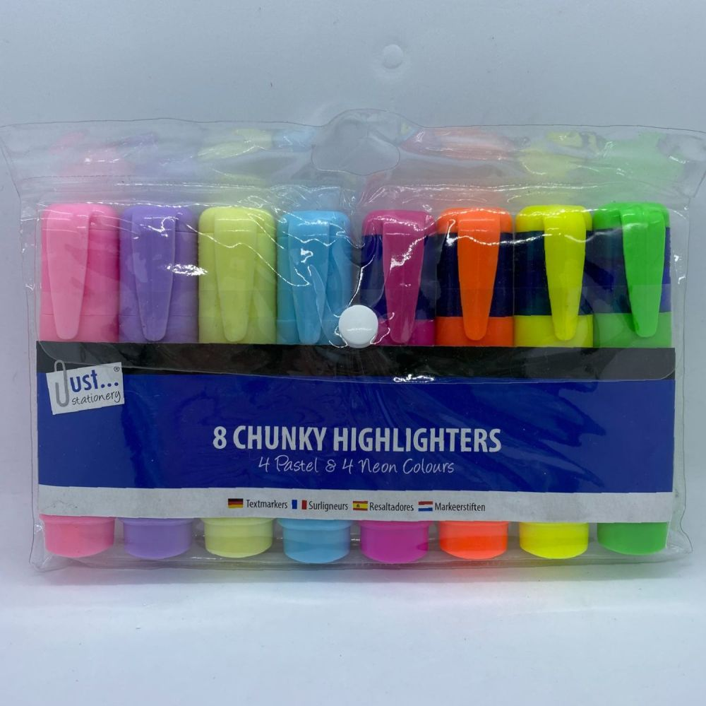 Chunky Highlighters - Pack of 8