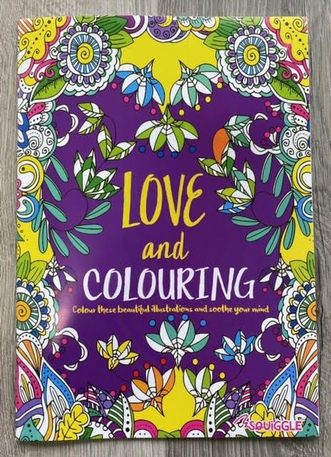 A4 Love & Colouring Book