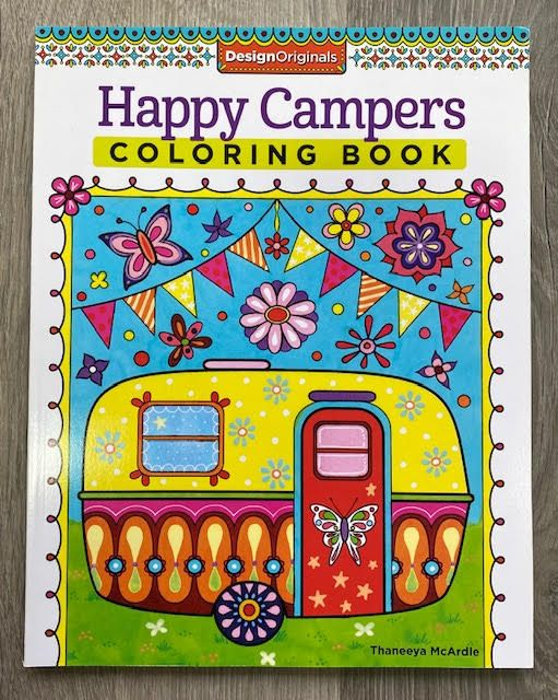 Happy Campers Colouring Book