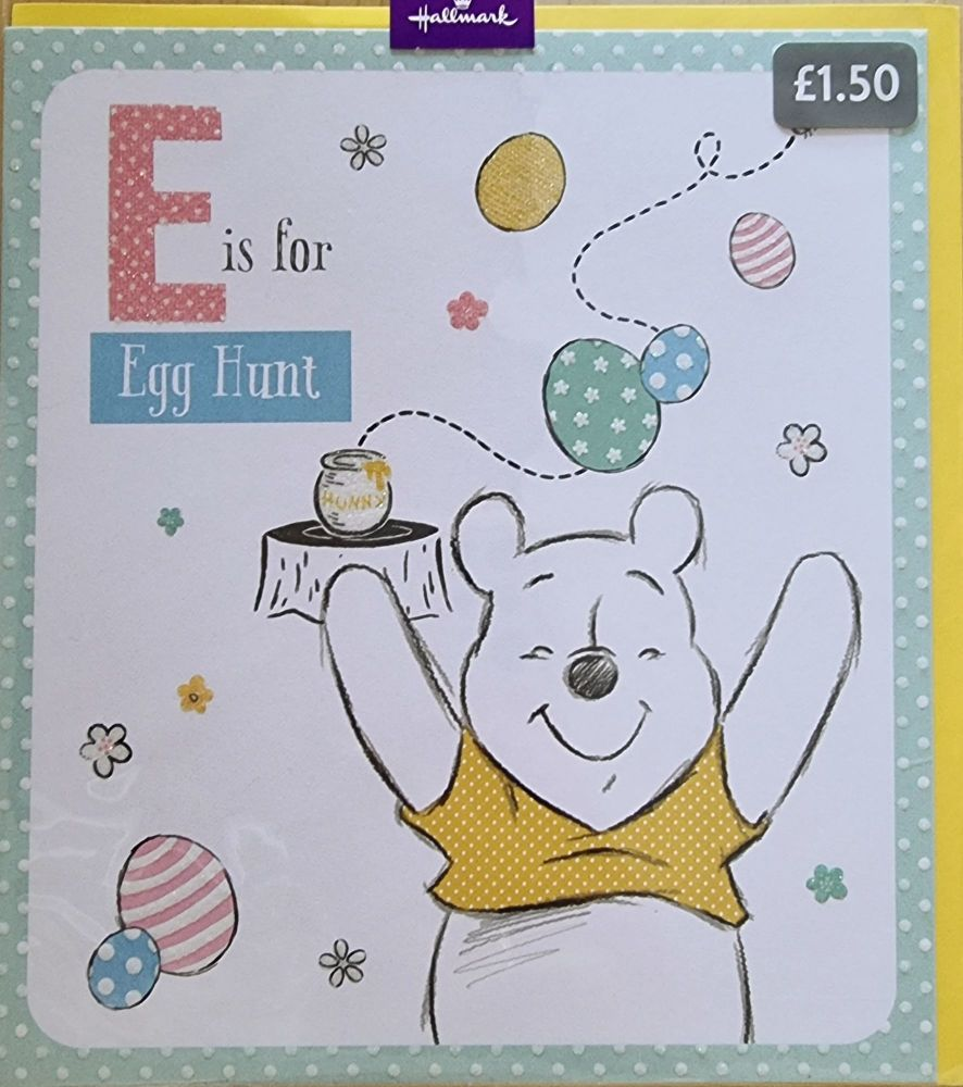 Winnie the Pooh Easter Card