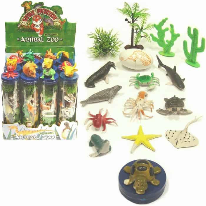 Assorted Animal Tube Set