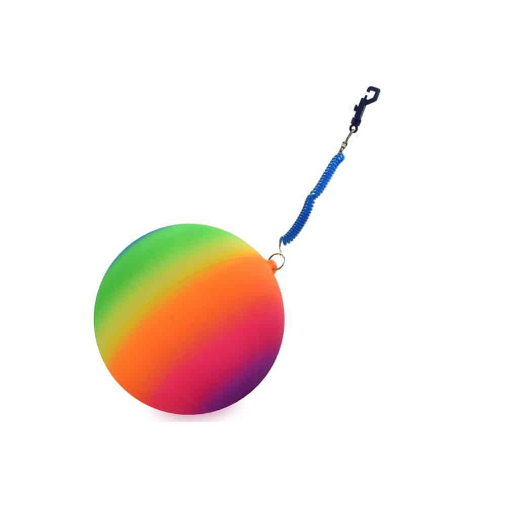 Neon Rainbow Ball on Cord