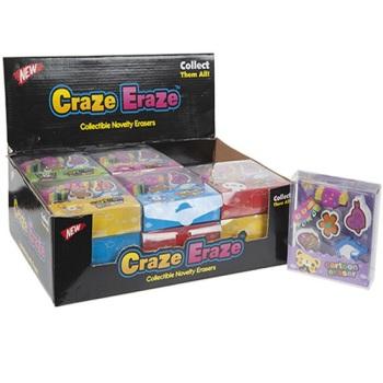 6pc Cartoon Eraser Set