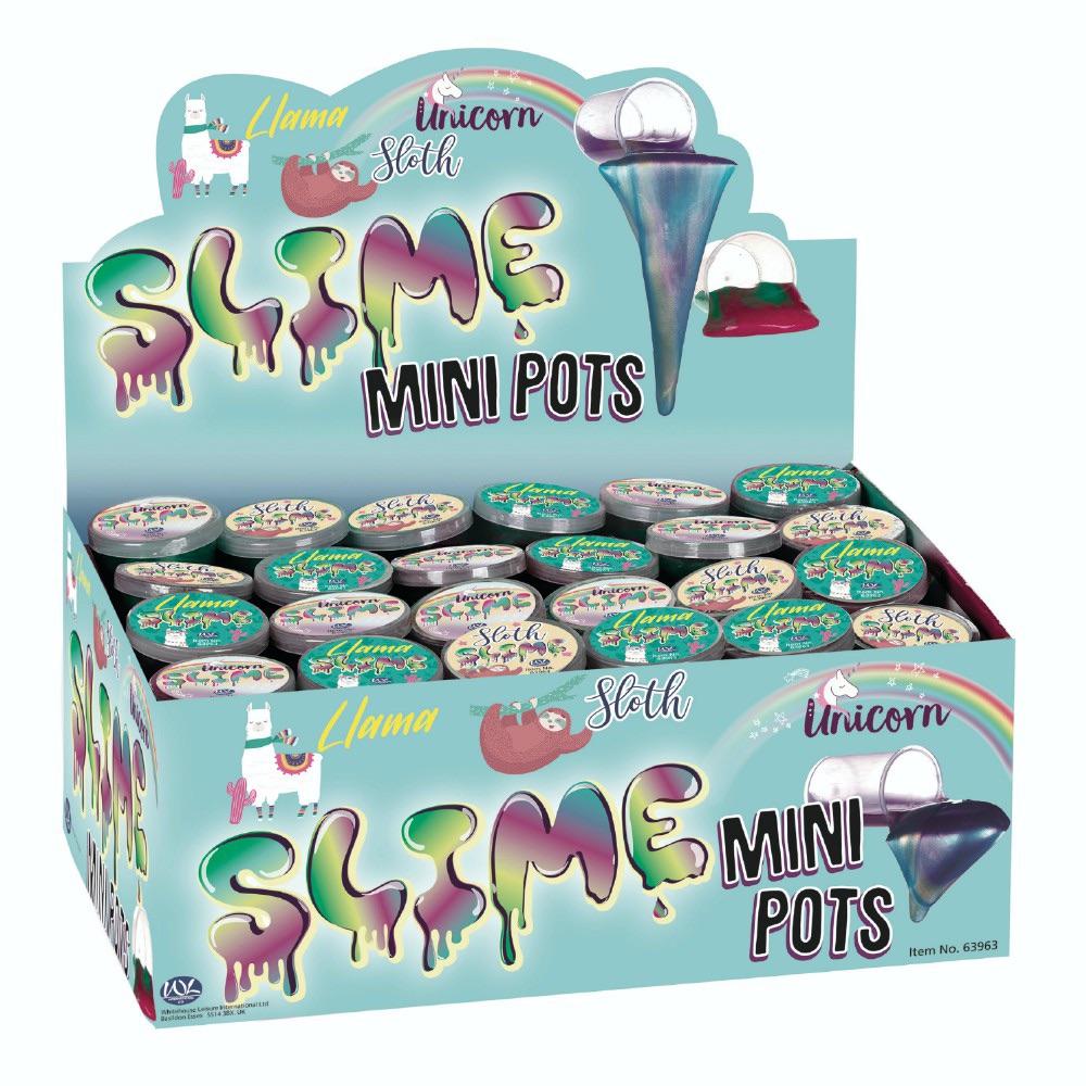 Llama, Sloth or Unicorn Mini Slime Pot