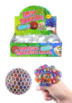 Squishy Rainbow Mesh Ball