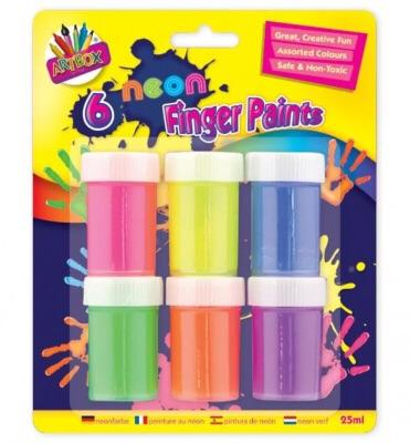 Neon Finger Paint Pots