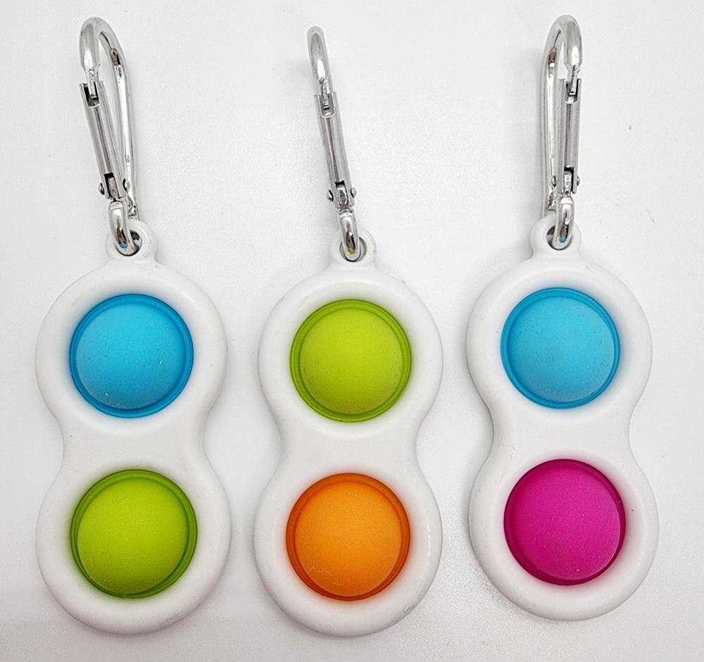 Simple 2 Dimple Poppit Key Chain