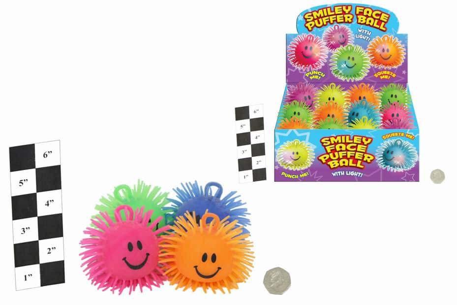 Light Up Smiley Puffer Ball