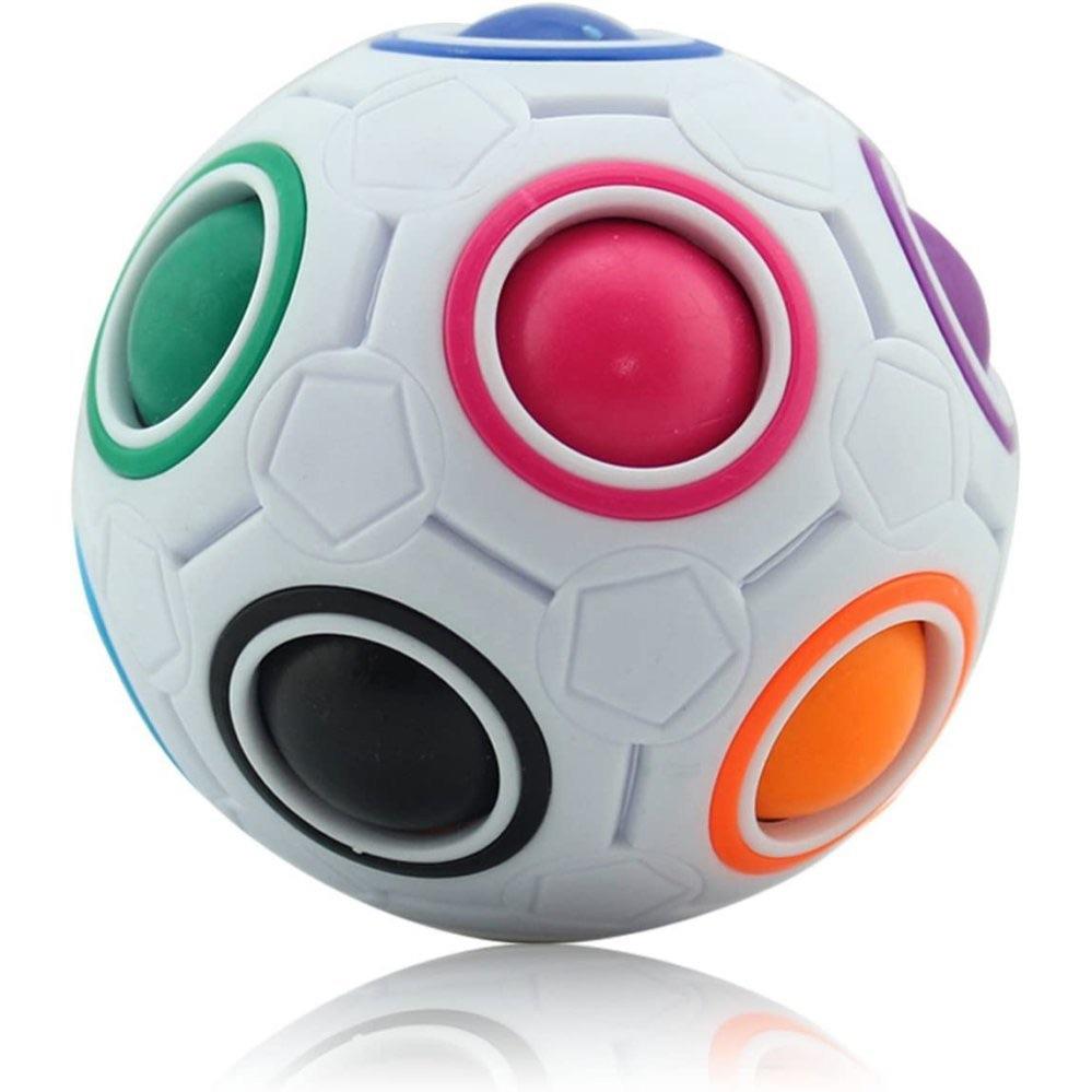 Rainbow Football Puzzle Fidget