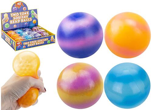 Two Tone Stress Ball With Beads