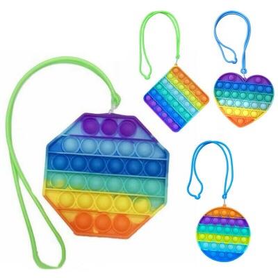 Poppit Rainbow Lanyard