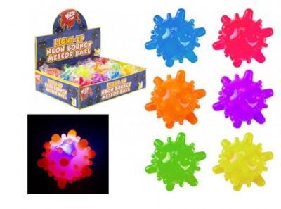 Light Up Bouncy Neon Comet Ball