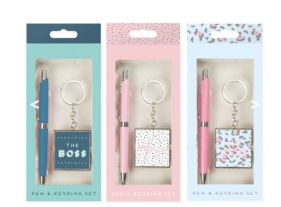Pen & Keyring Gift Set
