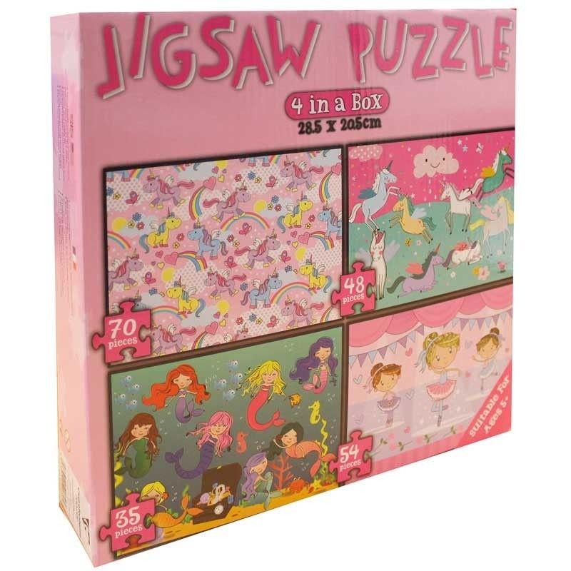 4x Jigsaw Puzzle Set