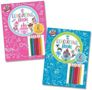 Colouring Book with Pencils