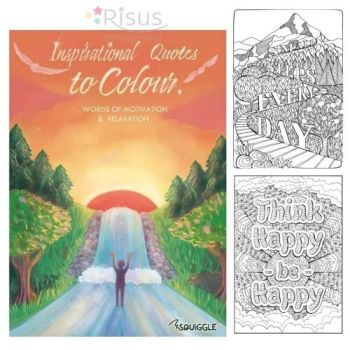 Inspiration Quotes Colouring Book