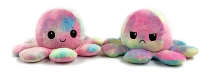Reversible Happy/Sad Pastel Octopus