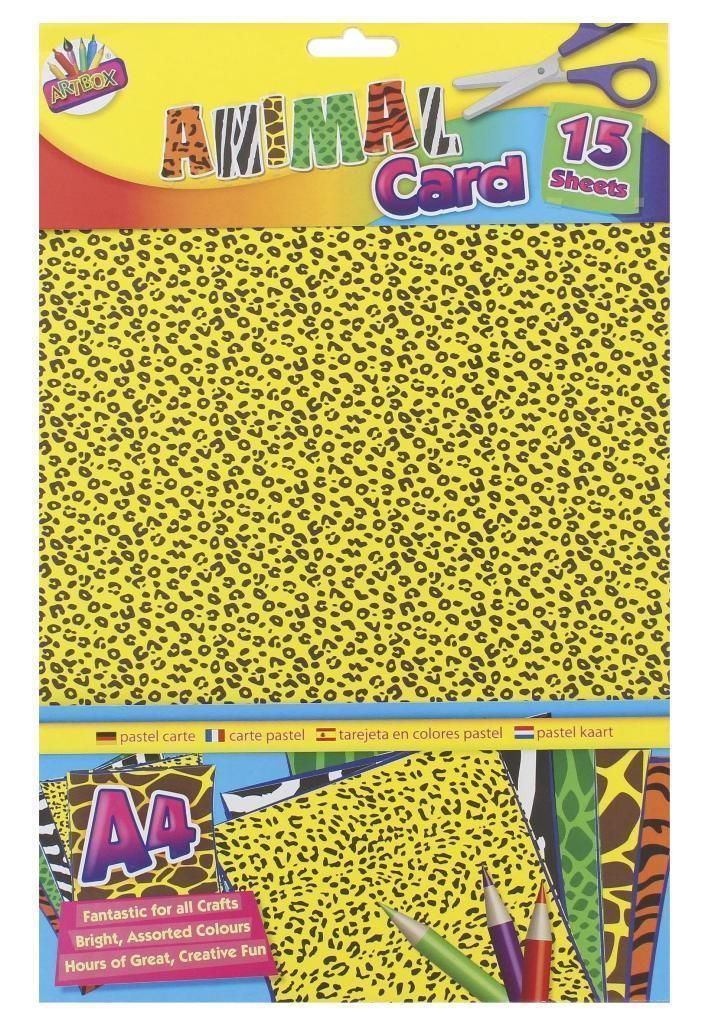 A4 Animal Print Card - 15 Sheets