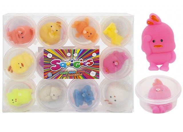 Mini Squeezy Animals In Tub