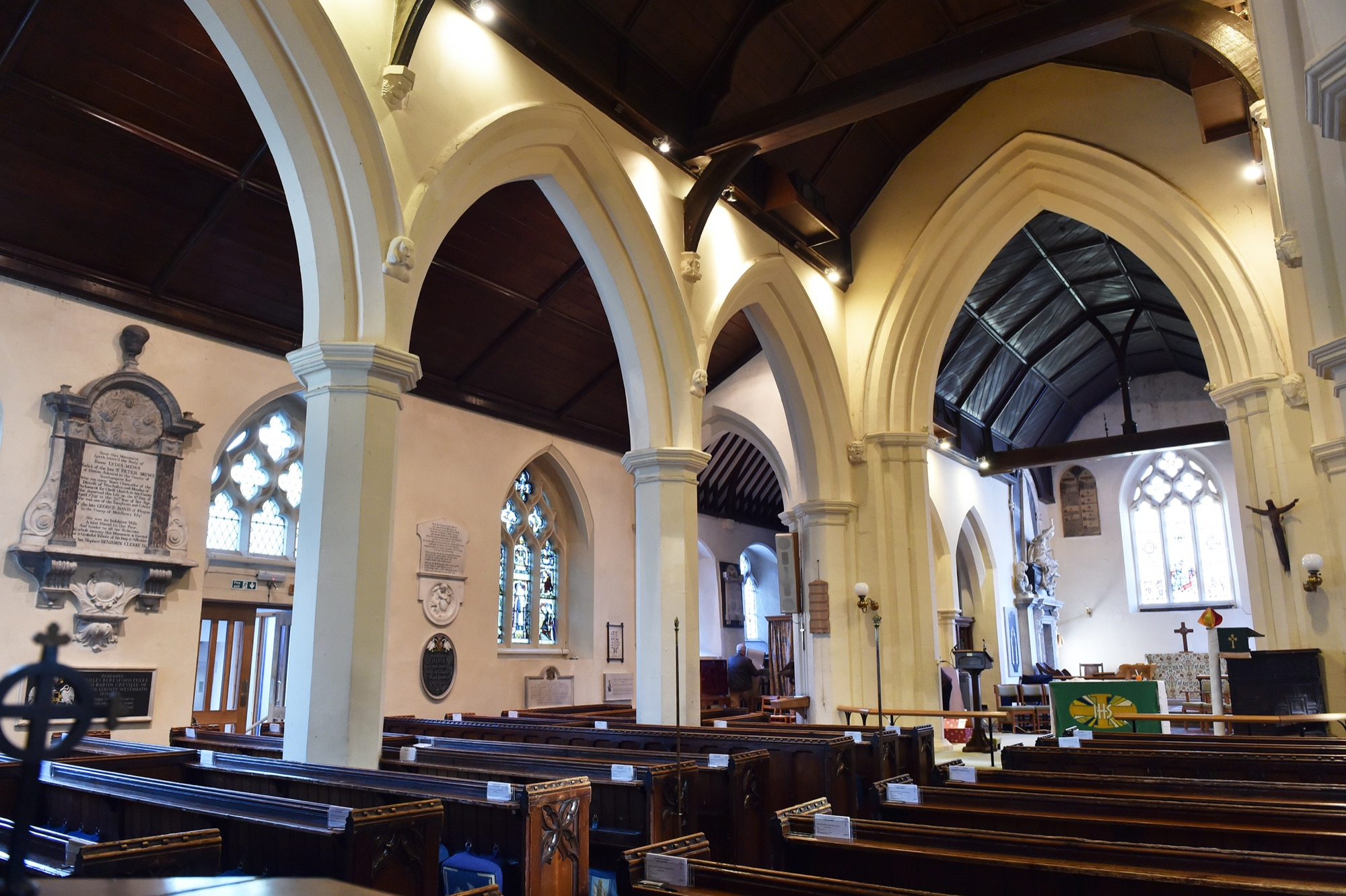 Interior of St Mary's church Photograph by Jane Russell Photography, www.jarphoto.co.uk