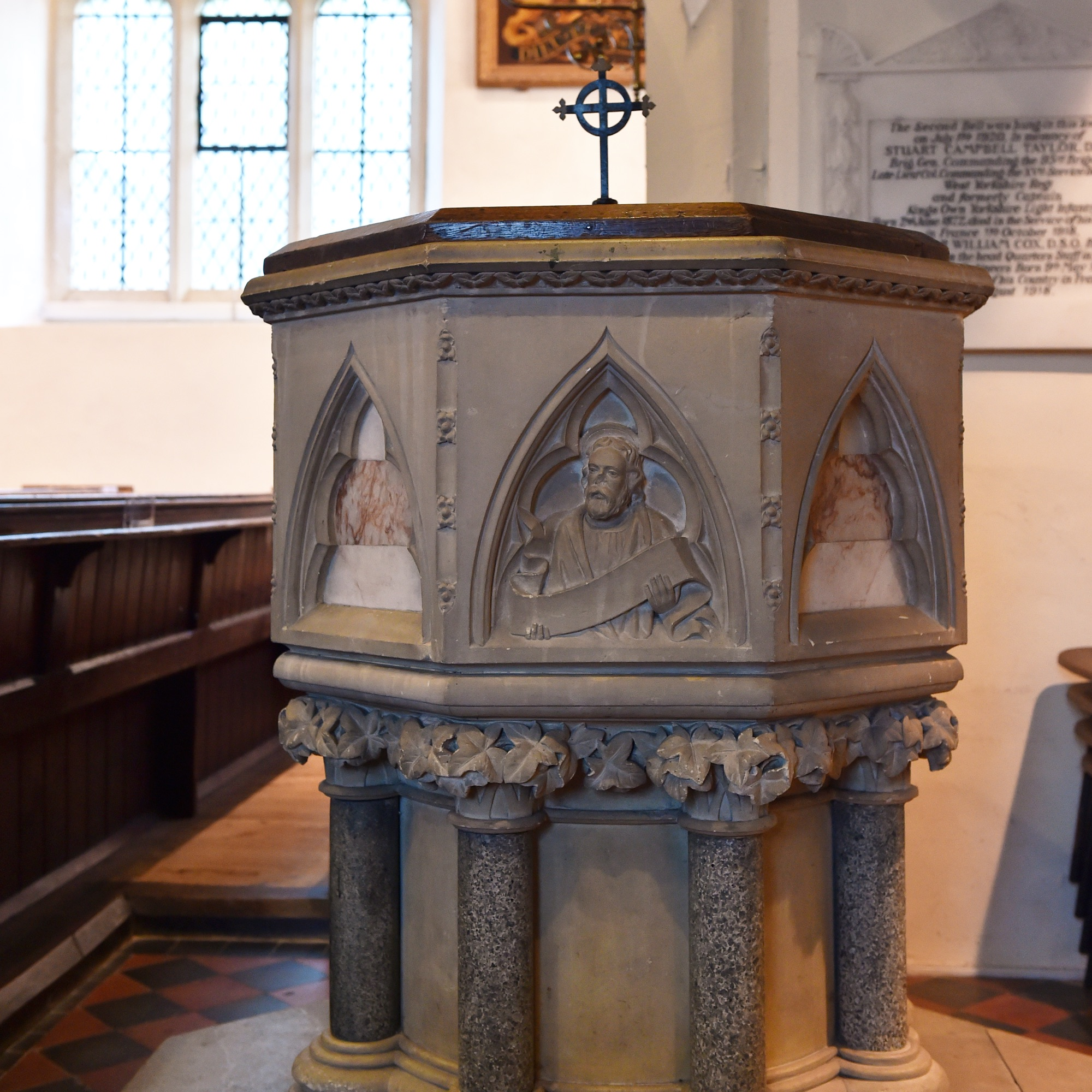 St Mary's Font Photograph by Jane Russell Photography, www.jarphoto.co.uk