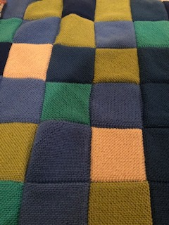 Hand knitted blanket photograph by Gill Peplow