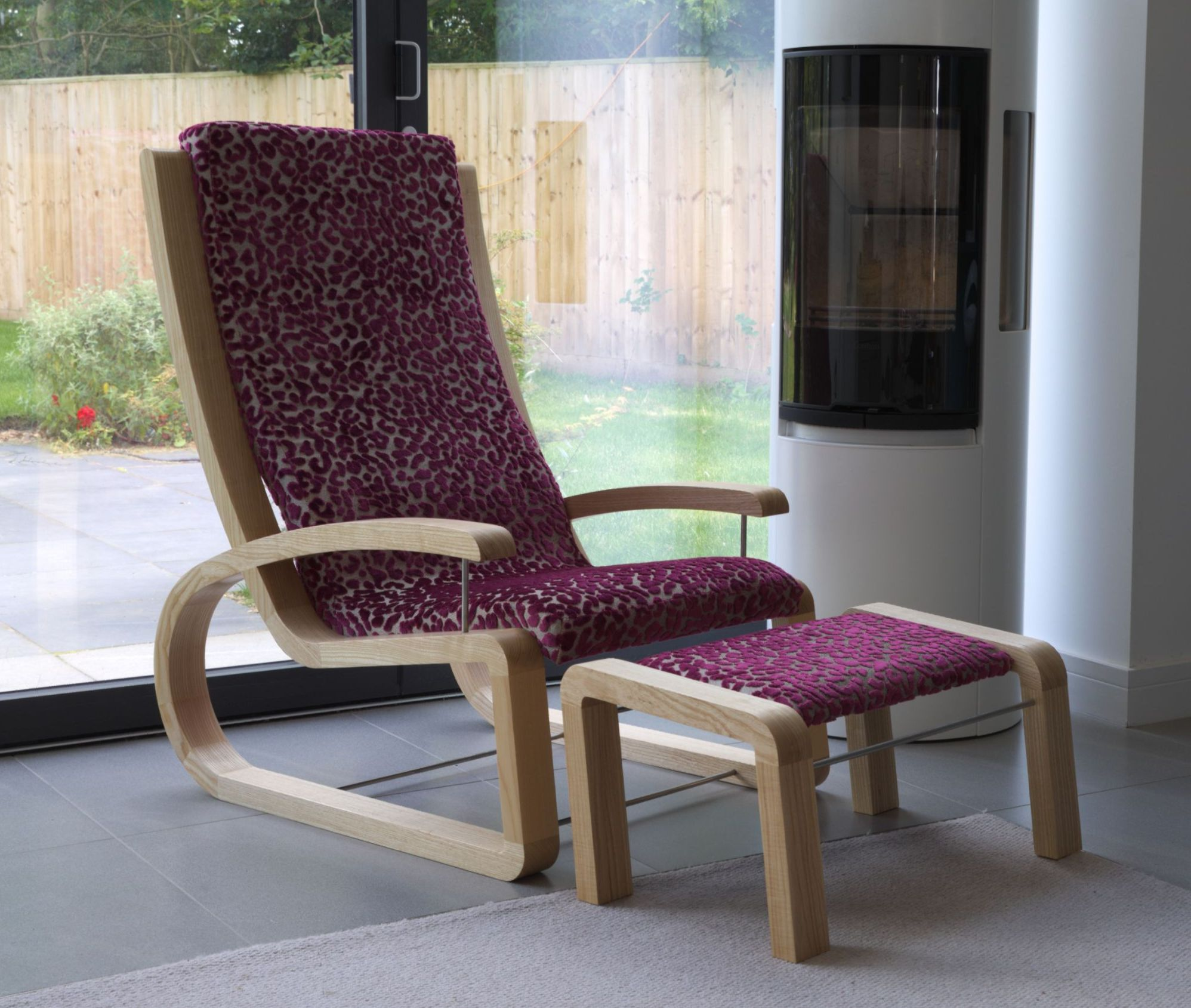 Lounge chair with footstool