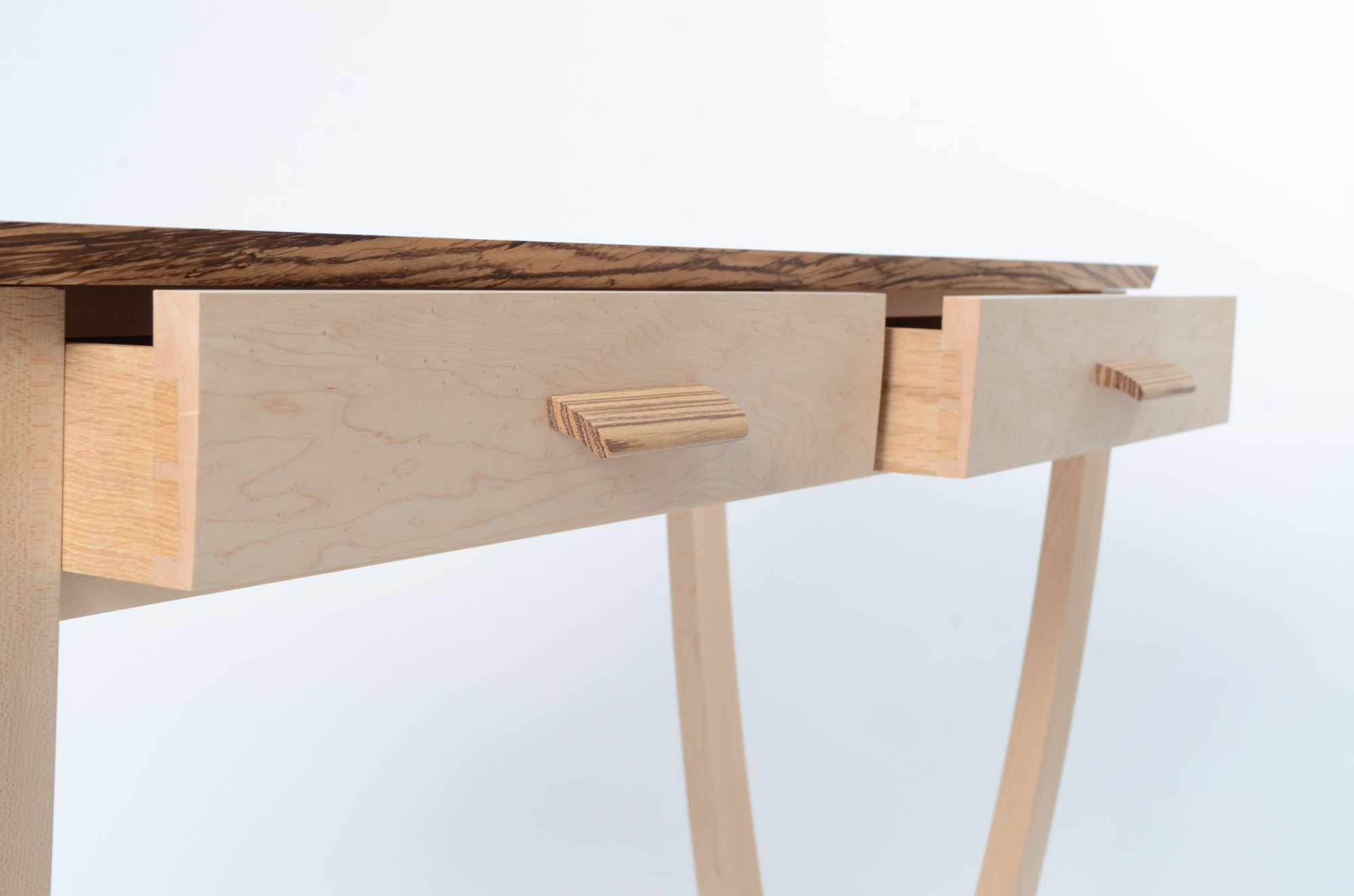 Dovetailed drawer in maple