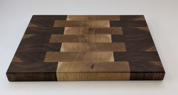 Walnut and oak board