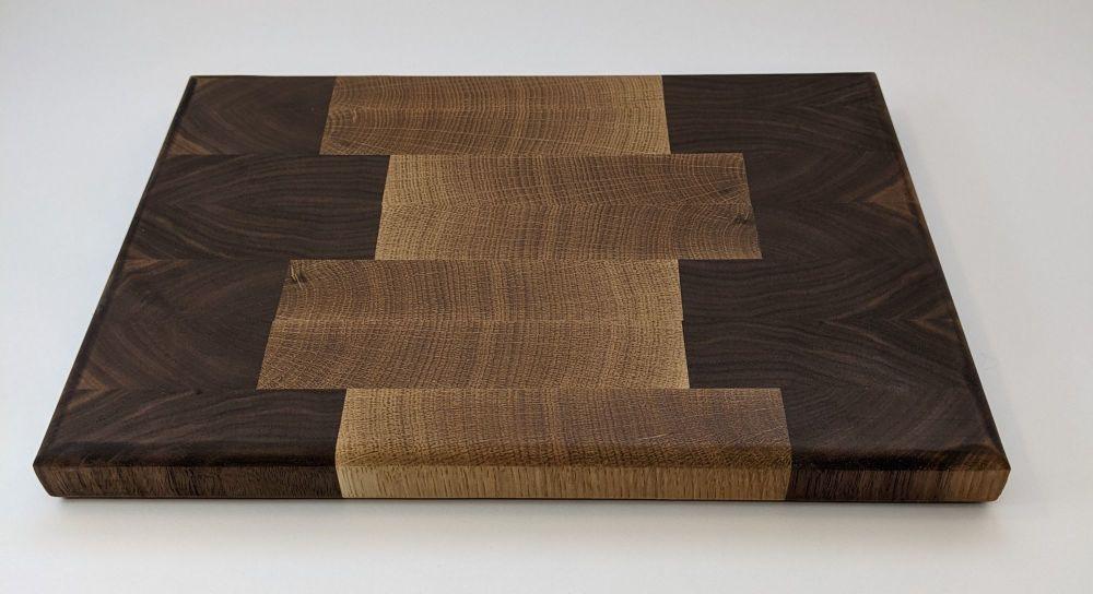 Walnut and oak board