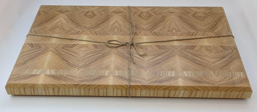 Oak end grain board